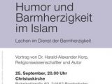Humor und Barmherzigkeit im Islam / 25.09.-20:00 / Christuskirche Bordesholm
