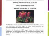 Adventskaffee / Waldhof / 01.12. -15h-