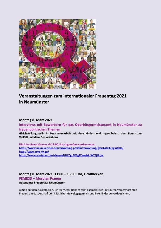 Internationaler Frauentag 2021 – 8.März
