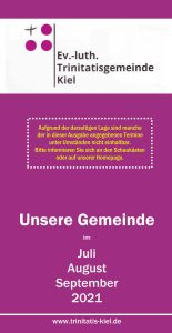 Read more about the article Der Gemeindebrief Juli bis September 2021 online