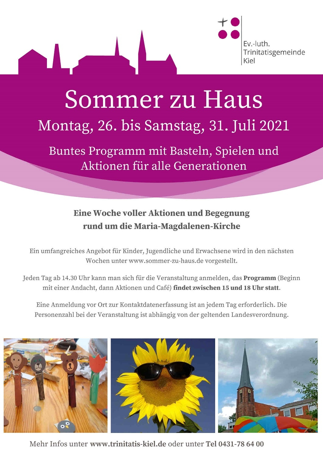 Read more about the article Sommer zu Haus 2021 / 26. – 31. Juli / Maria-Magdalenen-Kirche