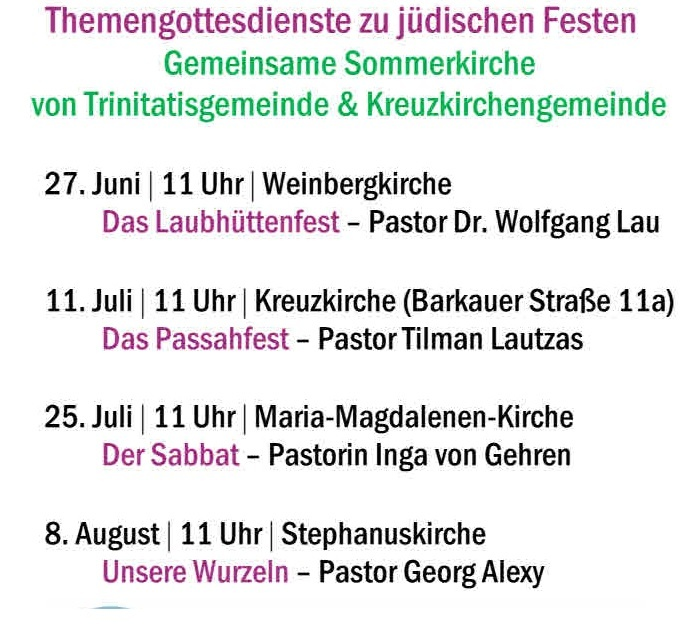 You are currently viewing Gemeinsame Sommerkirche